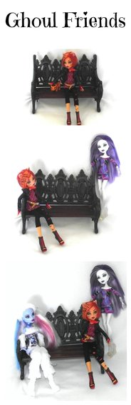 Pompoms for Monster High Fearleader Cheerleader Dolls: Abby Bominable, Toralie Stripe, Ghostly Gossip
