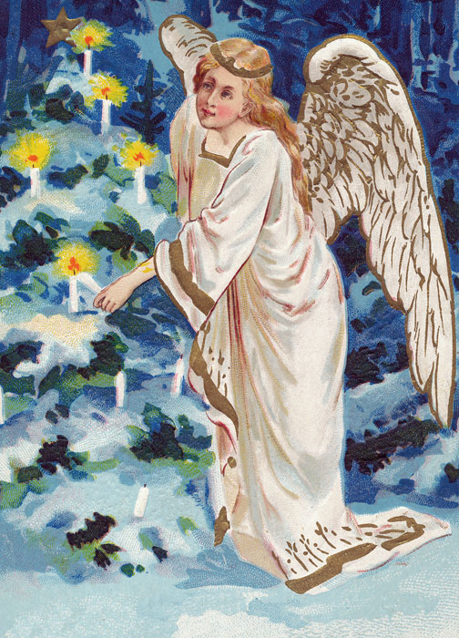 Traditional Boxed Christmas Greeting Cards: Angel
