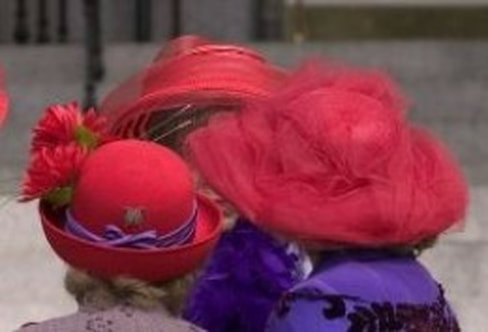 Red Hat Society: Hats and Bonnets