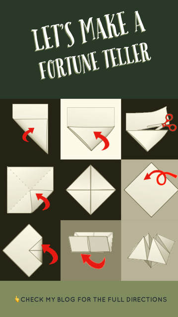 Origami Paper Fortune Teller aka Cootie Catcher